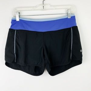 Lululemon Speed Short Black and Purple Blue Size 4
